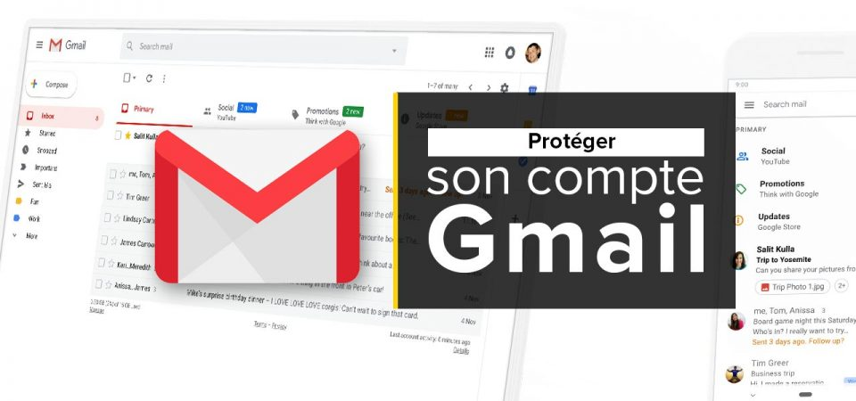 proteger compte gmail