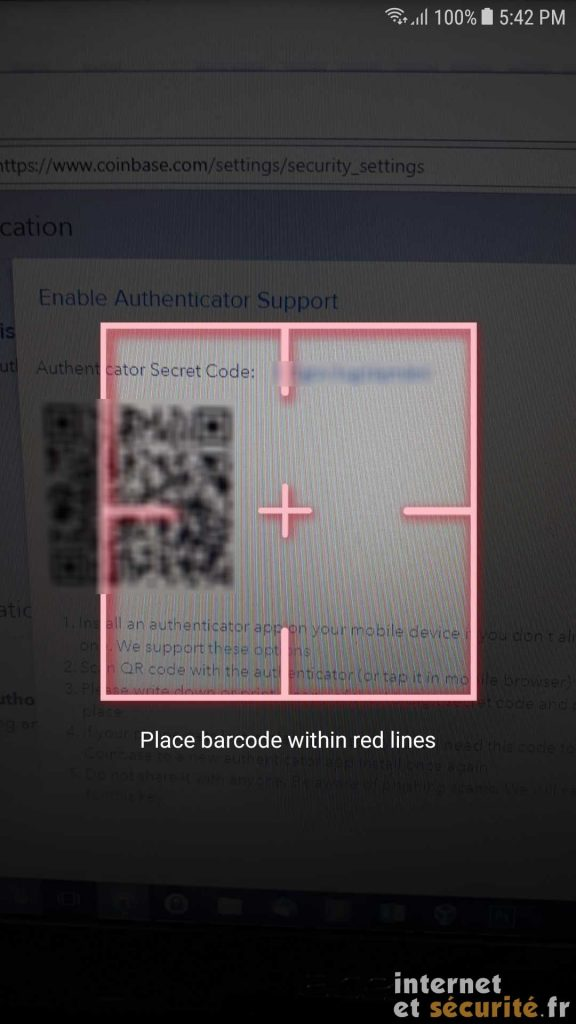 google authenticator scan barcode