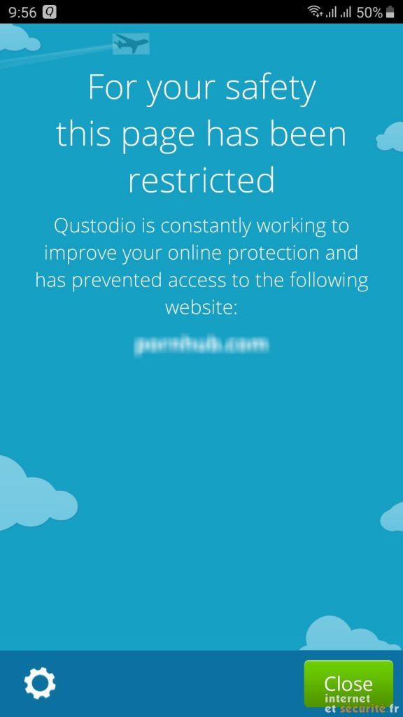 qustodio accès restreint
