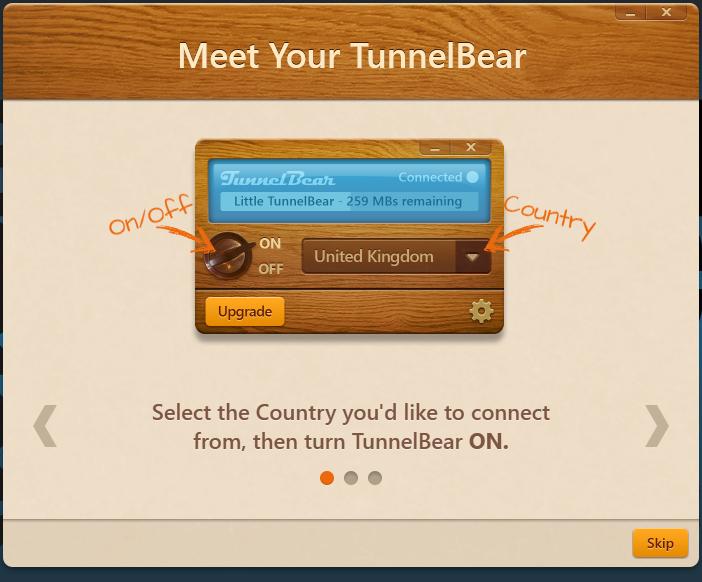 Le VPN Tunnelbear